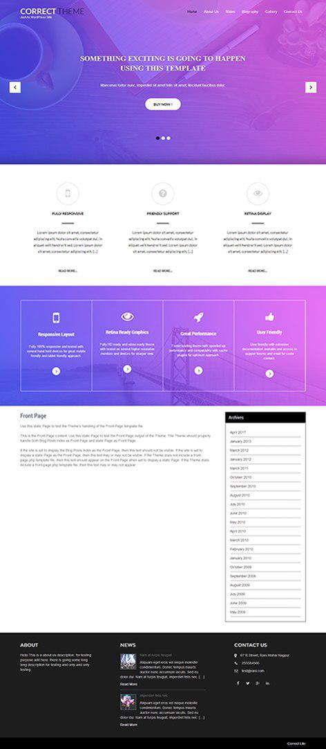 free simple WordPress theme