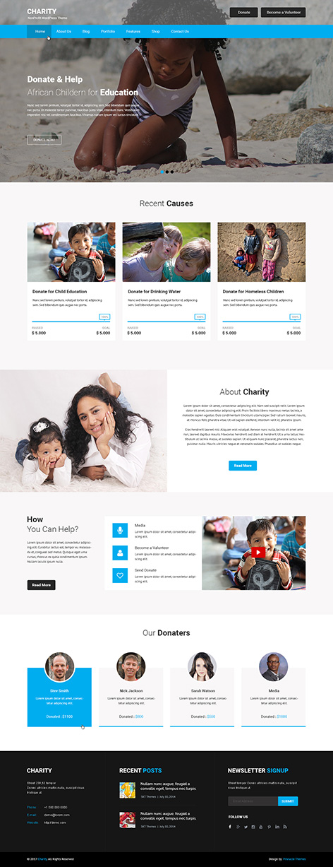 NGO WordPress theme