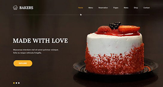Bakers WordPress Theme