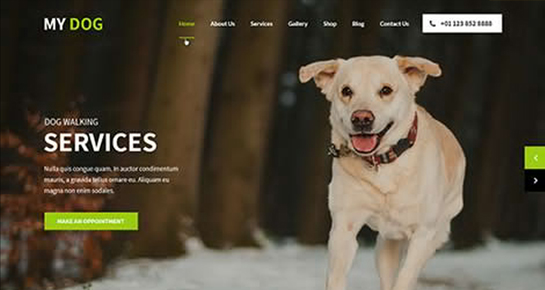 My Dog WordPress Theme