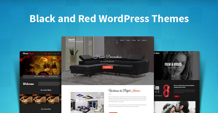Black and Red WordPress Themes